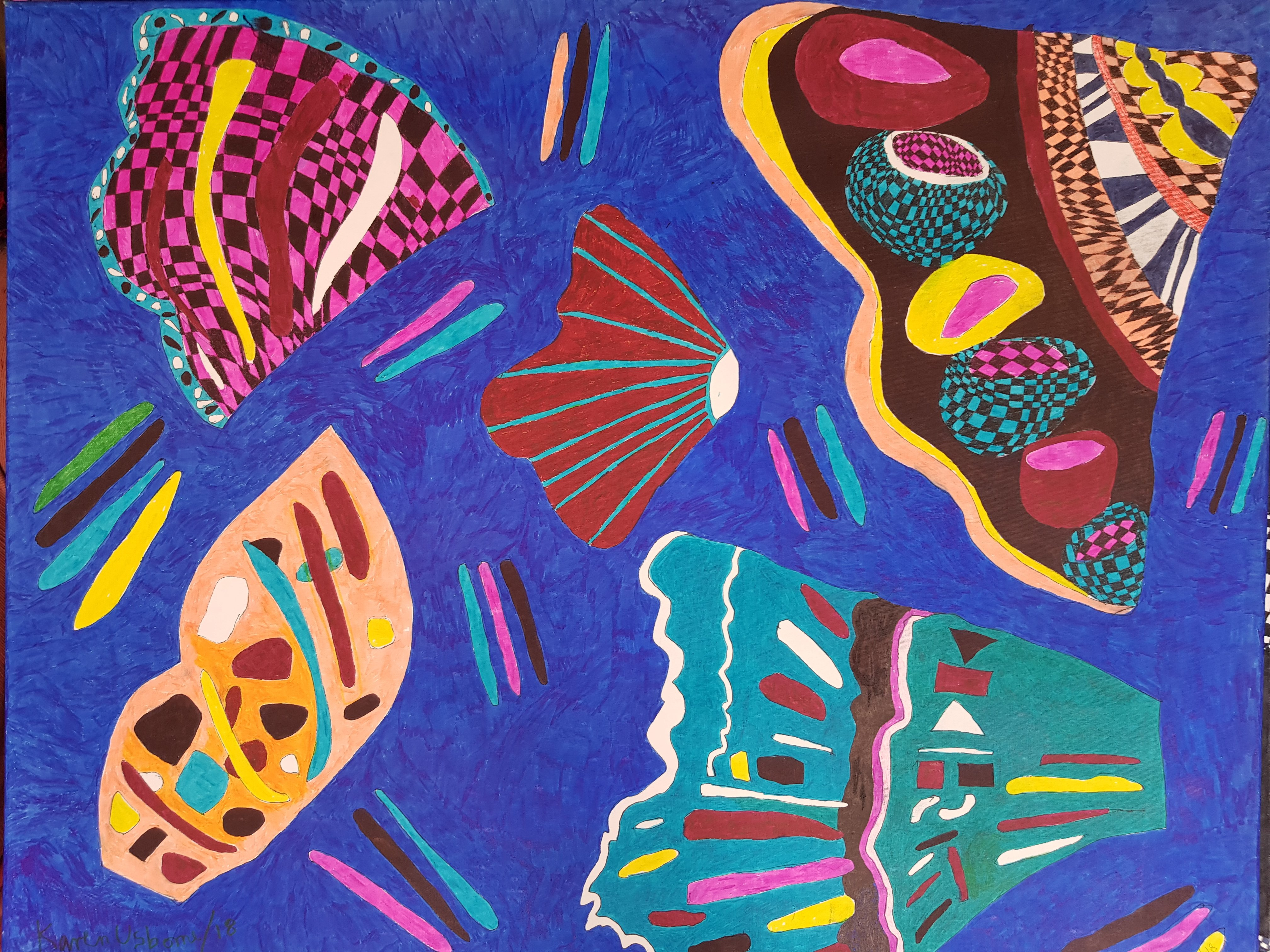 Buterfly Wings Abstract Art